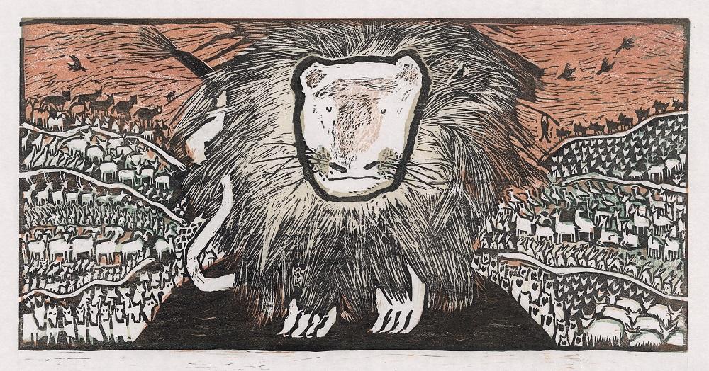 5.黑眯-震惊了动物界/Shocked all animals(44x21.5)cm